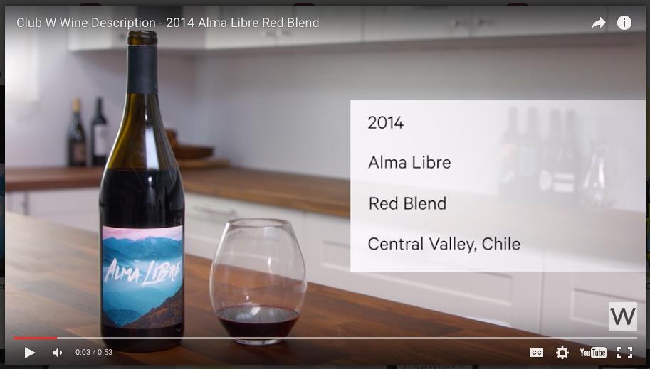 Club W Wine Video