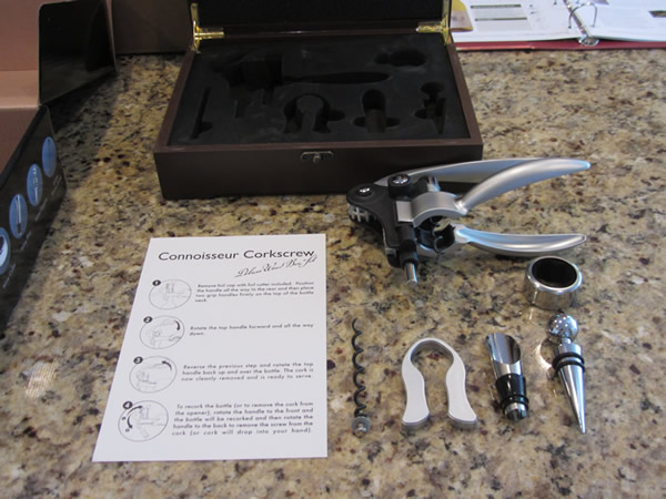 The WSJ Wine Club comes with the free gift of a connoisseur corkscrew