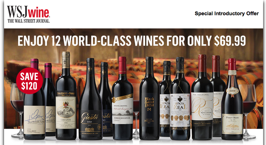 WSJ Wine Discovery Club Offer Code