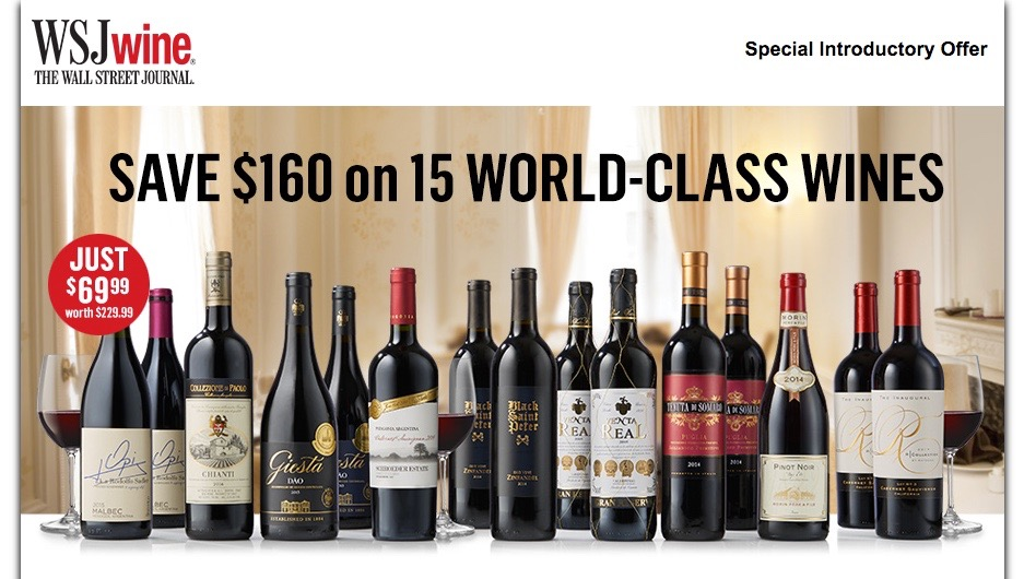 The Wall Street Journal Wine Club is the #1 most affordable wine club this year. Source: WineClubs.net