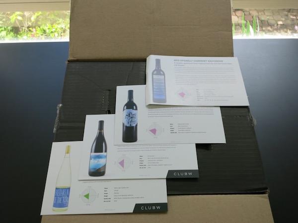 Club W Wine Tasting Notes