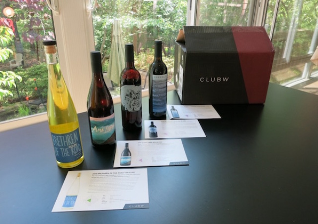 Wines from the Club W Wine Club