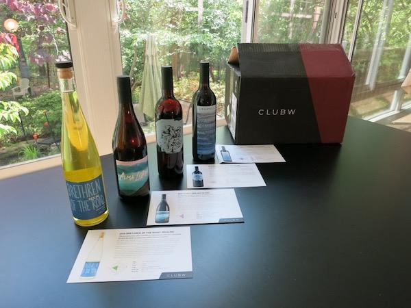 Wines from the Club W Wine Club