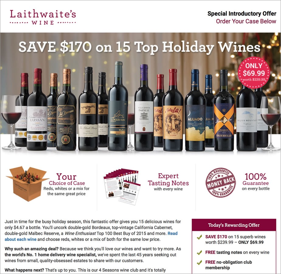 The Laithwaites wine club is one of our favorite wine clubs this year