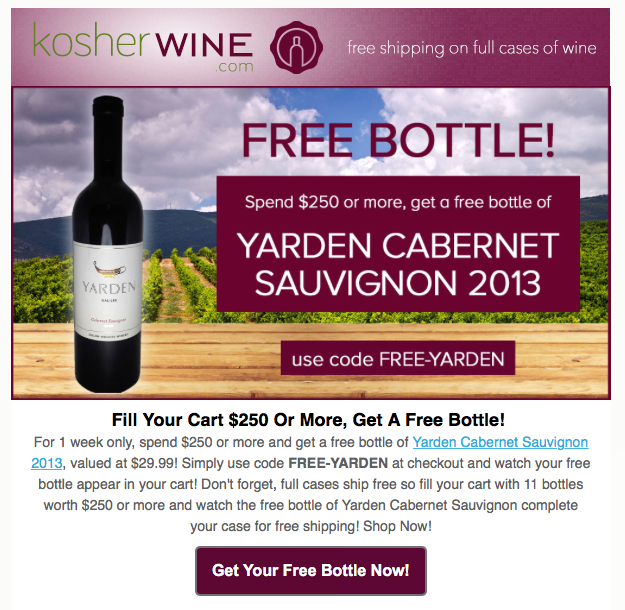 Kosher Wine Club Special Offer