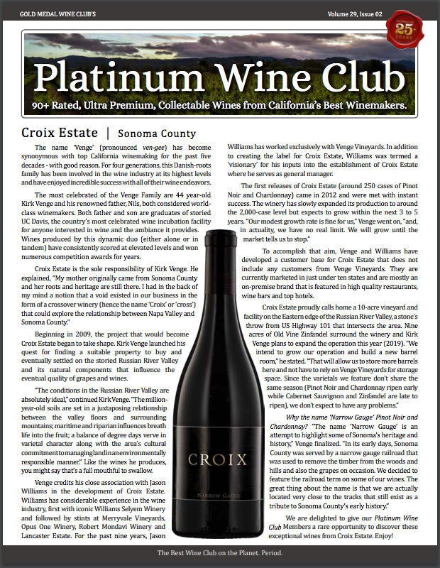 Gold Medal Wine Club - Platinum Wine Club