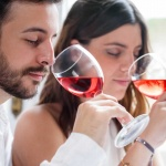 Oenophiles Drinking Wine